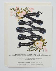 Hand painted invite