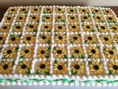 sunflower sheet cake - Google Search