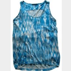 Blue cacoon super soft tank Stunning blue tank (NO FLAWS) ideal for XS-S. Velvet for Calypso St. Barth Blue Ikat Tank Top.  100% rayon.  The back hem is rounded and longer than the front and lends to a cocoon shape in the back.   17'' armpit to armpit 31'' from top back collar down center back to bottom hem 18'' from top front collar down center front to bottom hem Anthropologie Tops Tank Tops