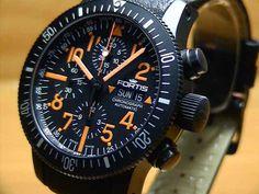 FORTIS clock B-42 black MARS chronograph limited edition Ref.638.28.13