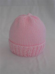 Child Knitting Patterns Simple New child Hat Knitting Sample Knit with Straight Needles OR Double Pointed Needles Free sample for charitable functions and perso. Baby Knitting Patterns Supply : Easy Newborn Hat Knitting Pattern Knit with Baby Hat Knitting Patterns Free, Baby Hat Patterns, Baby Hats Knitting, Easy Knitting, Crochet Patterns, Free Pattern, Knitted Baby Hats, Easy Knit Hat, Knitting Needles