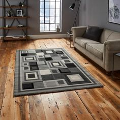 Think Rugs Hudson 3222 Grey Rug is a modern rug of great value. Machine made with BCF polypropylene and finished with machine carving. Black And Grey Rugs, Dark Grey Rug, Art Deco Bedroom, Hazelwood Home, Red Rugs, Home Additions, Modern Rugs, Contemporary, Channel Islands