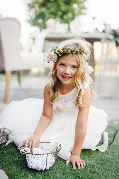 How sweet is this little flower girl? http://www.stylemepretty.com/2015/09/28/romantic-malibu-vineyard-wedding/ | Photography: Jana Williams - http://jana-williams.com/
