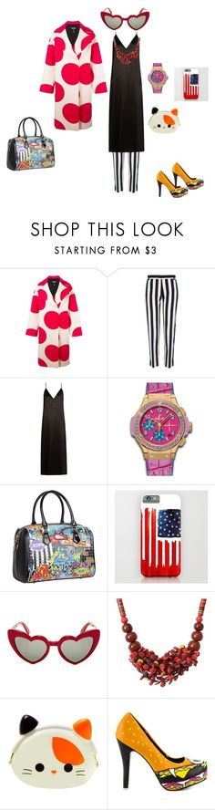 productora by alextango on Polyvore featuring moda, Raey, MSGM, River Island, Iron Fist, Nicole Lee, Hublot, NOVICA and Yves Saint Laurent
