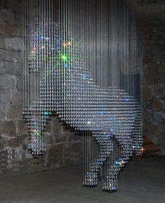 Stella McCartney's creation back in the Great Hall at Belsay Castle - glittery unicorn x Beaded Curtains, Monochrom, Sparkles Glitter, Unicorn Party, Unicorn Pics, Funny Unicorn, Unicorn Birthday, Art Plastique, Pegasus