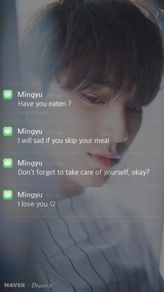 💞 Mingyu as your boyfriend💞 Seventeen Lyrics, Korean Phones, Message Wallpaper, Boyfriend Kpop, Bts Texts, Rapper, Mingyu Seventeen, Seventeen Wallpapers, Hip Hop
