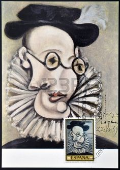 "A stamp printed in Spain shows the painting ""Portrait de Jaime Sabartés"" by Pablo Picasso, circa 1978"