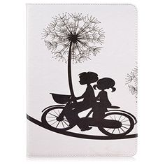 iPad Pro 9.7 Case, Speedup Premium Style PU Leather Wallet Flip Folio Protective Case with Foldable Stand Feature Built-in Cards Holder Cash Pocket Closure for Apple iPad Pro 9.7-inch (Boy Girl Bike) -- Check this awesome product by going to the link at the image.