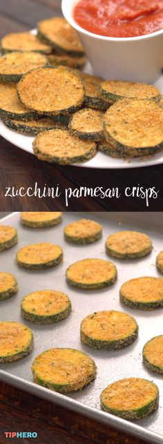 What to do with all that end of season zucchini? Baked Zucchini Parmesan Crisps! They'll leaved you wishing you had more! Click for the recipe and how-to video. #sides #yum #healthyrecipes