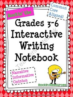 Interactive Writing Notebook Grades 3-6 from Mrs O on TeachersNotebook.com (395 pages)