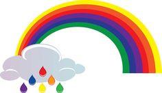 Rainbow Clipart, Rain Clouds, Rainbow Print, Pot Of Gold, Clip Art, Symbols, Letters, Nursing, Decor