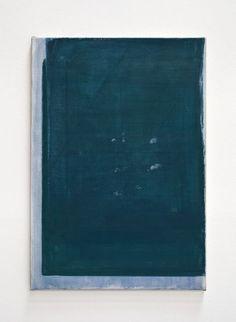 John Zurier, Postlude (2014), Distemper on linen, 25 5/8 × 17 1/2 in