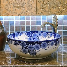 Cheap sink hot water dispenser, Buy Quality sinks cheap directly from China countertop dishwasher Suppliers: Blue and white China Handmade Lavabo Washbasin Art wash basin Ceramic Counter Top Wash Basin Bathroom Sinks sink counte