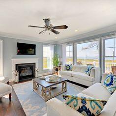 Catalina - Living Room - beach style - living room - philadelphia - Schell Brothers-Sherwin Williams Sleepy Blue