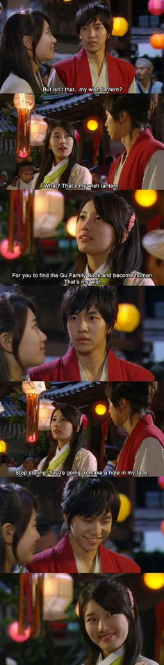 Gu Family Book <3 Kang Chi & Yeo Wool wish lantern sharing <3 my fav scene