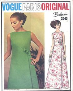 Here you will find that ever so special vintage Vogue sewing patterns! The large format inches by 8 inches patterns by Vogue Couturier Design, Vogue Model, Vogue Paris Original ,Vogue Americana, Vogue Designer Original Vogue Dress Patterns, Evening Dress Patterns, Dress Making Patterns, Vintage Dress Patterns, Vogue Sewing Patterns, Vintage Dresses, Vintage Outfits, Vintage Fashion, Steampunk Fashion