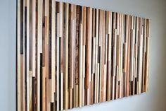 A massive wall of this would be cool -- Wood Sculpture Queen Headboard or Wall Art  by moderntextures, $1125.00