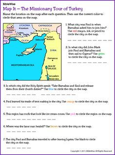 Map It - Missionary Tour of Turkey: Paul