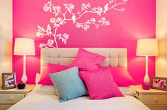 adesivos de parede para quarto rosa - Pesquisa Google
