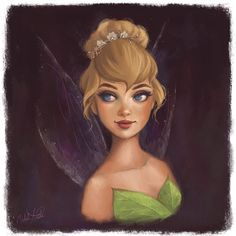Miss Tinker Bell. Disney Artwork, Disney Fan Art, Disney Drawings, Walt Disney Land, Disney Magic, Disney Dream, Disney Love, Fanart, Disney Fairies
