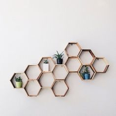 Honeycomb Eco Shelf – Hunt & Gather These wood honeycomb shelves can stand alone or transform your wall into a geometric display. Our hexagonal Honeycomb Eco Shelf is made from repurposed furniture production remnants. We use a blend of woods- teak, oak and mindi - to create a distinctive combination for each piece. The Eco Honeycomb Shelf is designed to be wall mounted with two simple screws, but works well as a contemporary accent on bookshelves and tabletops around the home.