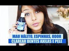 6 utilidades da água oxigenada - Clarear dentes, manchas, axilas, secar espinhas.. - YouTube