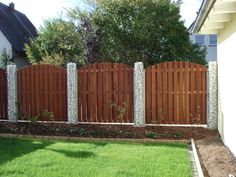 Sonstiges für den Garten, Balkon, Terrasse - Bangkirai Zaun Gartenzaun Holzzaun Element Hartholz Bogen 180x180