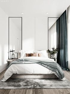 minimalist bedroom decorating ideas for small spaces 7 « Home Design Modern Bedroom Design, Master Bedroom Design, Nursery Design, Modern Design, Gold Bedroom, Bedroom Decor, Bedroom Ideas, Bedroom Boys, Bedroom Furniture