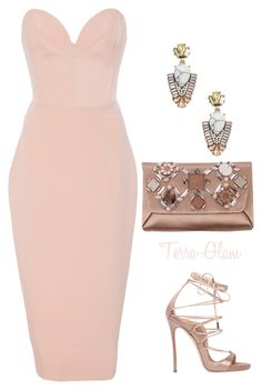 Champagne Ready by terra-glam on Polyvore featuring polyvore fashion style Christian Siriano Dsquared2 Lanvin Sole Society clothing