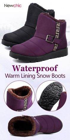 Women Winter Waterproof Flexible Warm Fur Inside Snow Boots is hot-sale.  Come to NewChic to buy womens boots online. ba0fc357231