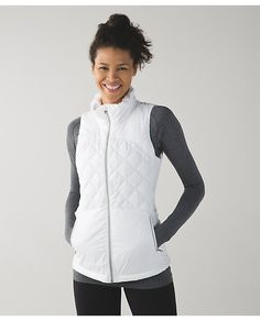 Down For A Run Vest, sz 8, $138.  LOVE IT!  Any color but black, prefer WHITE!  reminds me of the fluff off vest from 2013.