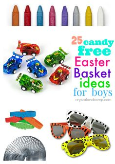 50 ideas to fill an easter basket easter baskets easter and 50th 25 candy free easter basket goodies for boys negle Images
