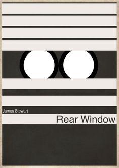 """Rear Window, Minimalist Movie Poster"", 2012"
