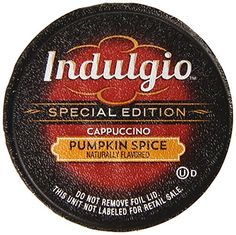 Indulgio Pumpkin Spice Cappuccino Special Edition for Keurig KCup Brewers 12 Count Pack of 6 * Be sure to check out this awesome product.
