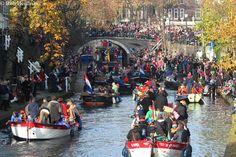 Sinterklaas in Utrecht. Christmas celebration