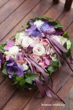 生花のリングピロー
