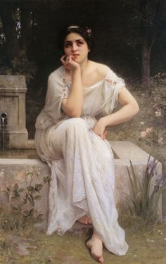 Meditation 1899 realistic girl portraits Charles Amable Lenoir art for sale at Toperfect gallery. Buy the Meditation 1899 realistic girl portraits Charles Amable Lenoir oil painting in Factory Price. Classic Paintings, Old Paintings, Beautiful Paintings, Contemporary Paintings, Romanticism Paintings, Lenoir, Munier, William Adolphe Bouguereau, Pre Raphaelite