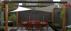 Pergola For Car Parking Pool Shade, Backyard Shade, Backyard Garden Design, Pergola Shade, Backyard Projects, Backyard Patio, Building A Pergola, Deck With Pergola, Outdoor Pergola