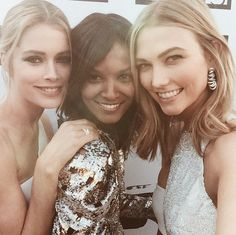 #Repost @lorealparisofficial Hello red carpet we are almost ready @liyakebede @doutzen #becausewecannes #cannes2015 (@karliekloss).  @liyakebede