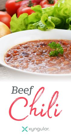 A healthy Beef Chili recipe approved for the Jumpstart meal plan.