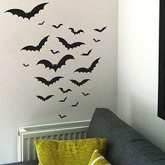 Halloween Bats Wall Sticker Set
