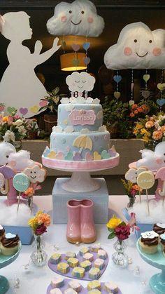 36 New Ideas baby shower cake rainbow party ideas Rainbow Birthday, Rainbow Baby, Girl Birthday, Birthday Parties, Cake Rainbow, Baby Shower Cakes, Baby Shower Themes, Cloud Baby Shower Theme, Shower Ideas