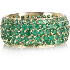 Jennifer Meyer 14-karat gold emerald ring found on Polyvore <3<3<3