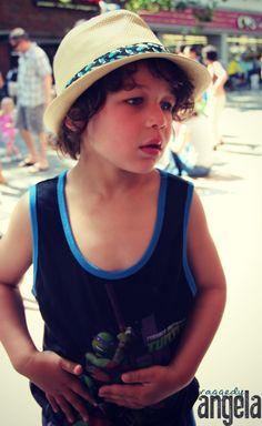 kids style - hat and throwback tank top