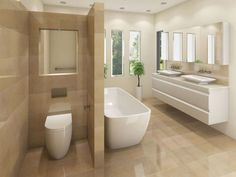 Image result for travertine bathroom