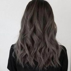 Black Coffee Hair With Ombre Highlights - 10 Cool Ideas of Coffee Brown Hair Color - The Trending Hairstyle Ashy Hair, Brown Hair Balayage, Blonde Balayage, Coffee Brown Hair, Coffee Hair, Grey Ombre Hair, White Blonde Hair, Light Brown Hair, Dark Hair