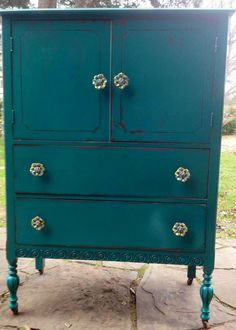 Painted furniture...love love this painted piece. The hardware totally makes it!