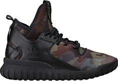 Adidas Men's Tubular X Basketball Shoe Core Black/Dark Brown Camo US D(M) 11