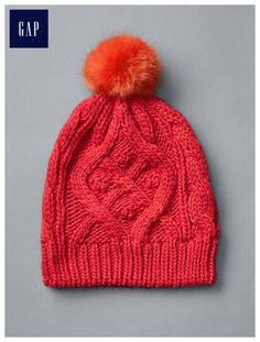 Search results for Gap Cable Knit Pom Pom Beanie Modern red Baby Kids Clothes, Clothes For Women, Cute Beanies, Knit Beanie Hat, Gap Women, Pom Pom Hat, Cable Knit, Knitted Hats, Knit Crochet