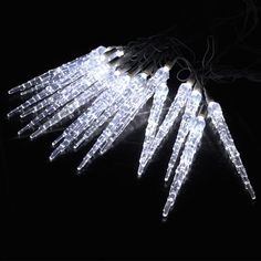 10 Metre Led Icicle Lights Snowfall Snowing Frozen Effect Christmas Xmas White